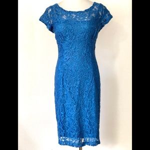 Scarlett Sequin Lace Overlay Cocktail Dress